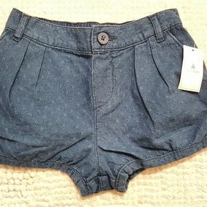 Girls GapKids Bubble Shorts Chambray Denim 5